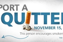 BE A QUITTER / November 15th and everyday, inspire people to stop smoking. #BeAQuitter @AmericanCancer / by Michele Mazzarella