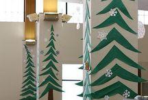 irodai karácsonyi dekor