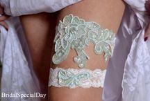 Bridal garter / Mint bridal garter