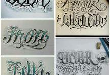 Tatuajes letter