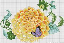 Igłą malowane kwiaty