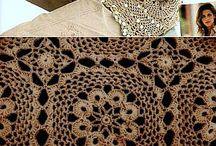 blusa rendada de crochê