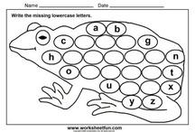New Entrant alphabet/reading activities
