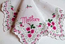 Vintage Style Cotton Hankies and Hankie Cards / Vintage Style Cotton Hankies and Hankie Cards in feminine, floral patterns.