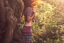 Chic bohemian sunset forrest