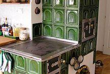 kachľová pec- kuchyňa