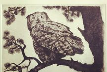 Woodcut / Some pics of my work.  All done handmade.
