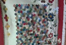 Hand patchwork quilting