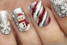 Fingernägel Weihnachten