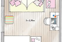 Layout quarto + home office