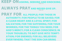 Invitation to Prayer / Ways to help you pray, techniques or tools of prayer, prayer meetings...