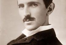 Nicola Tesla / Board of images related to Nicola Tesla's legacy.