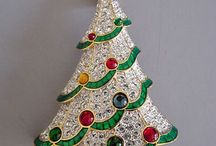 christmas pins and jewlery