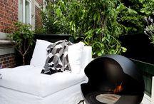 Garden/ fireplace