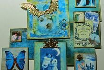 Altered Pages Collage Art / Art created by using collage images.   So many themes and colors!