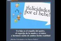 tarjeta felicitación padres bebe