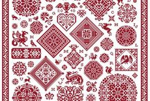 crossstich red and white / by Phebe-and-Jane