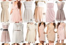 Bridesmaid dresses / Mismatched ideas - shades of pastels