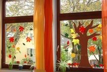 vyzdoba oken podzim