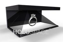 Hologram Displays for TradeShows, Conferences & Events / Draw everyone to your booth with the impressive appearance of Holospace, and keep them there with compelling, interactive content. We tailor make a software experience for your unique purpose, to educate and engage. Expositions, trade shows or launch events, rent a hologram and rise head and shoulders above your competition.