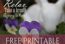 Friday Freebies Free Printables / who doesn't love free printables?