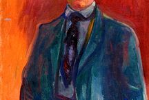 Edvard Munch / Edvard Munch war ein norwegischer Maler und Grafiker des Symbolismus. Neben über 1700 Gemälden fertigte er zahlreiche Grafiken und Zeichnungen an. Munch gilt als Bahnbrecher für die expressionistische Richtung in der Malerei der Moderne