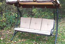 Wooden Swing Arbours & Hammocks / A lovely range of swing arbours and hammocks for the garden