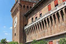 Castello estense Ferrara Italia / Castello estense Ferrara