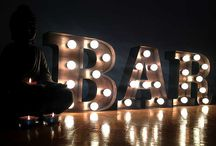 Bulb Light Letters