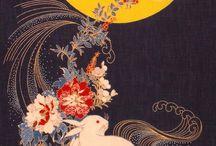 Кролики и Луна / Японский текстиль
