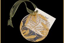 Holiday Christmas Tree Ornaments / High end 24k gold, silver, and iridecent copper electroplated oranments.