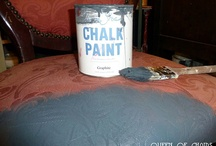 Chalk paint on chair fabric