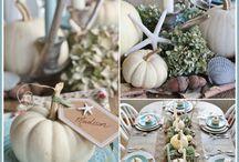 Coastal Fall Decor / Add a festive coastal touch to your Fall decor!
