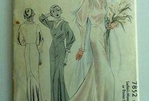 WEDDING VINTAGE DRESSES PATTERNS