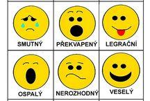 emotikony, nálady, vztahy