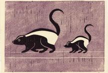 Zorrillos / skunks / by Lorena Pablos