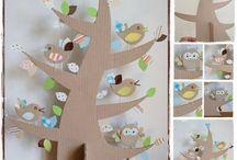 május madarak és fák