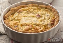 quiches, tortas e suflés