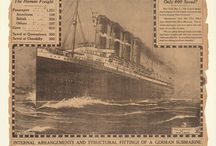Sinking of the Lusitania / On May 7, 1915, the Lusitania was about to complete its 202nd crossing of the Atlantic. It was just off the coast of Ireland when a German U-boat attacked the ship. The ship sank and over 1,900 passengers and crew were lost; 138 Americans died. This event, along with others, eventually pushed the United States into WWI in 1917.  / by NewseumED