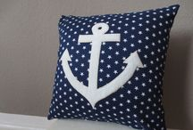 Anchors pillow cover