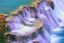 Vodopády,jezera a řeky