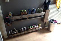 Hallway shoe storage