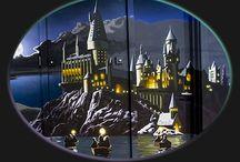 Harry Potter mural in boys' bedroom