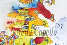Watercolors  / Watercolors by Serena Capello
