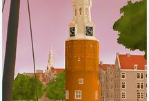 Dutch City Travel Posters