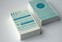 Business Card Design / Inspiration for Business Cards