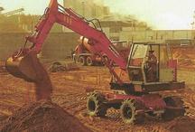 Grondverzet,  Wegenbouw  / Weg en Waterbouw uit het verleden met zandkippers en draglines en nog veel meer.