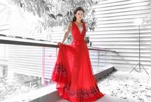 New shoot collection by nikhita / Red carpet gown