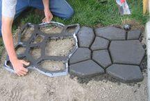 Fliser i beton.