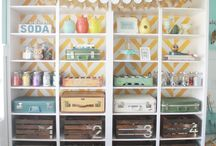 CRAFT ROOM IDEAS / by Darlene Greg